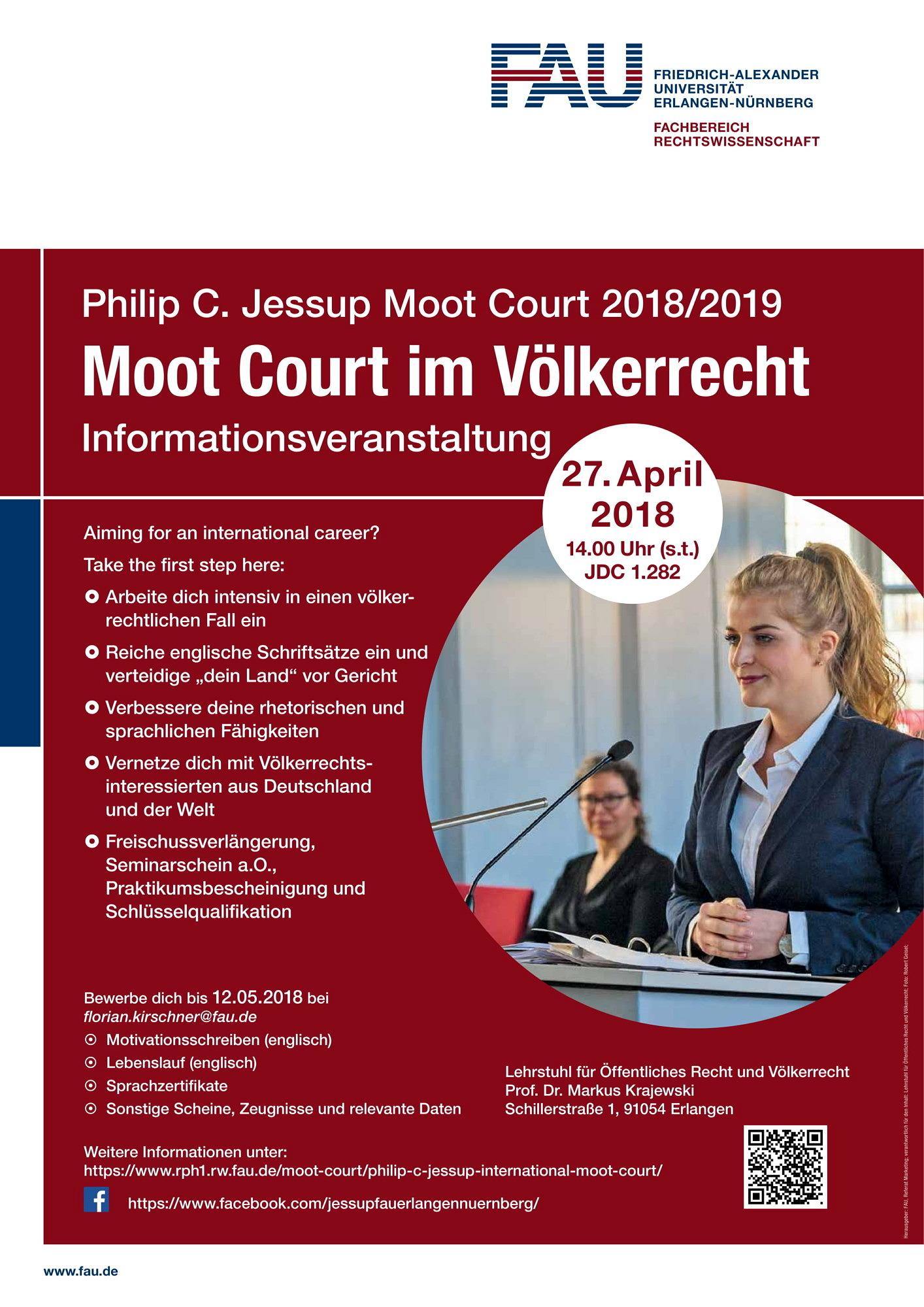 Moot Court im Völkerrecht – Informationsveranstaltung