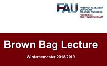 "Zum Artikel ""Brown Bag Lecture – Wintersemester 2018/2019"""